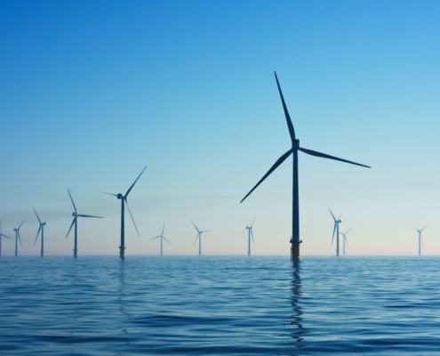 Offshore Wind Park at German Baltic Sea