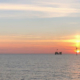 Sunset at German North Sea